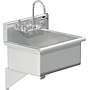 BLANCO 22 X 16 SCRUB UP SINK WALL W / WRIST BLADE HANDLES