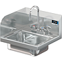 COMAL 14 X 10 X 5 HANDSINK WITH DECK FAUCET END SPLASH LEFT