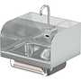 COMAL 14 X 10 X 5 HANDSINK WITH WALL ELECTRONIC FAUCET END SPLASH LEFT AND RIGHT