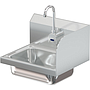 COMAL 14 X 10 X 5 HANDSINK WITH WALL ELECTRONIC FAUCET END SPLASH RIGHT