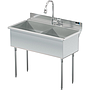 UTILITY SINK TWO COMP 21 X 18   W / PULL DOWN SPRAYER